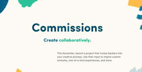 Collaborative Crowdfunding Platforms - 'Kickstarter Commissions' Turns Backers into Creators