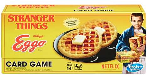 Branded Sci-Fi Card Games - The Stranger Things Eggo Waffle Card Game is Suspenseful