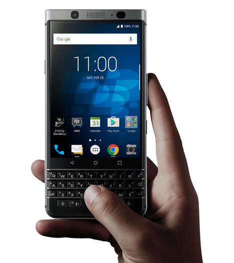 Android-Powered Business Smartphones - The BlackBerry KEYone Smartphone Merges Aesthetics