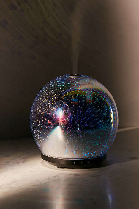 Galactic Oil Diffusers - This Spherical Essential Oil Aroma Diffuser Soothes with LED Effects