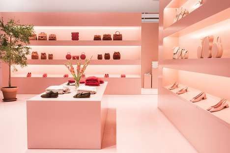 Luxe Leather Pop-Up Shops - Mansur Gavriel's Millennial Pink Pop-Up is Filled with Leather Goods