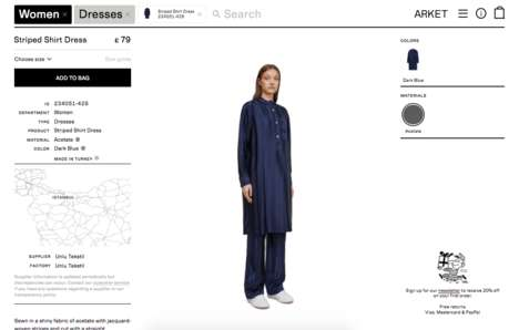 Transparent Lifestyle Goods Retailers - H&M's 'Arket' Website Emphasizes Where Each Product is Made