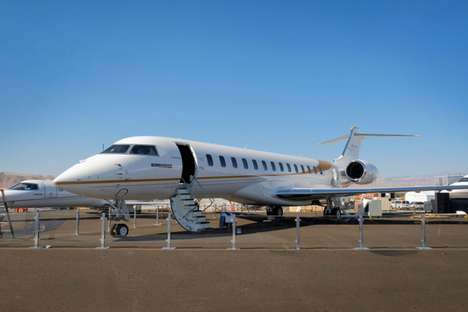 Segmented Cabin Business Jets - The Bombardier Global 7000 Aircraft Offers Ample Living Space
