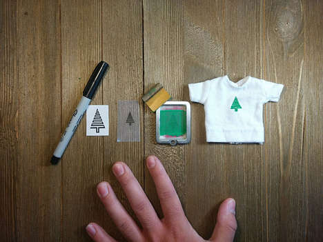 Functional Miniature Clothing Presses - This Adorable Device Creates Custom Logos on Tiny Shirts
