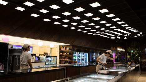 Flicker-Free Panel Lighting Displays - LG Display's OLED Panels Illuminate a Baskin Robbins in Seoul