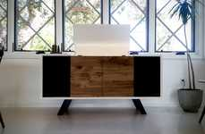 Music-Streaming Record Players - The Wrensilva Sonos Edition Luxury Record Consoles is Retro Chic