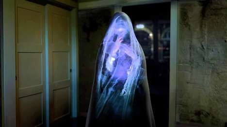Spooky Digital Home Projections - AtmosFearFX's Downloadable Animations are Perfect for Halloween