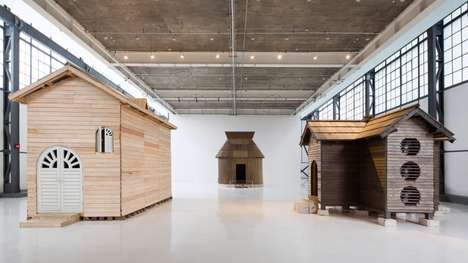 Unfriendly Abode Installations - Kiyoto Ota's Unwelcoming Wooden Houses Rain on Those Who Go Inside