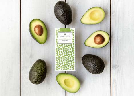Dark Avocado Chocolates - Love Cocoa Released a Decadent Organic Avocado and Chocolate Bar