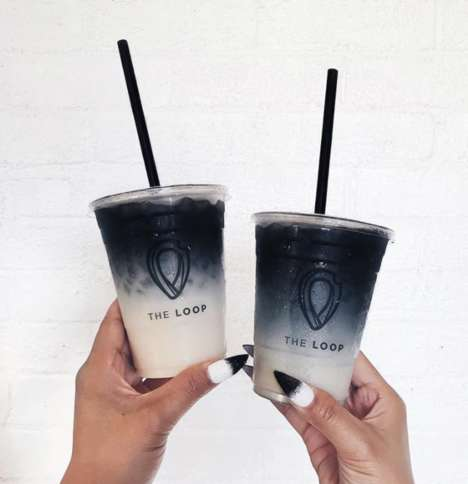 Ombré Charcoal Horchatas - The Loop: Handcrafted Churros Has Created an Instagram-Friendly Horchata
