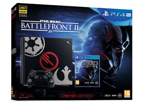 Sci-Fi Game Console Bundles - The Star Wars Battlefront II Limited Edition PS4 Bundle is Celebratory