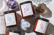 Crystal-Inspired Candles