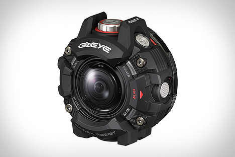Rugged Timepiece-Inspired Cameras - The Casio GZE-1 Action Camera Operates at Depths of 150 Feet