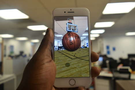 The 'NBA AR' App Lets Users Practice Their Shot Anywhere