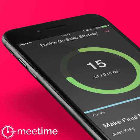 Professional Meeting Efficiency Apps - The 'MeeTime' App Ensures You Stay on Time and Topic
