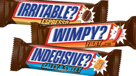 Feeling-Branded Chocolate Bars - The Snickers Hunger Bars Speak to Your Need for Fuel