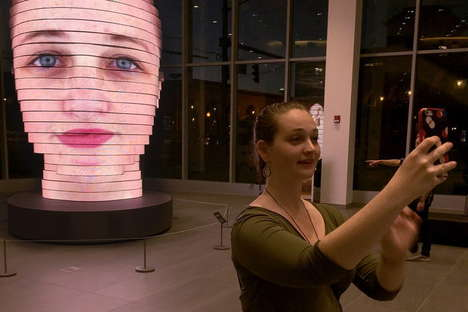 Giant LED Head Sculptures - 'As We Are' Projects Selfies onto 850,000 3D LEDs
