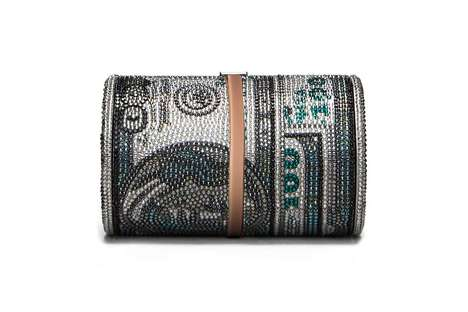 Luxe Crystal-Covered Clutches - Judith Leiber and Alexander Wang's 'Money Bag' Embodies Opulence