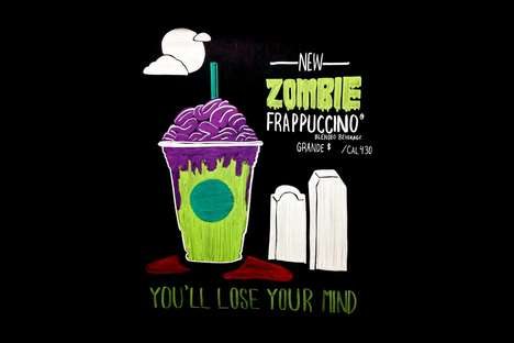Sweet Zombie-Inspired Drinks - Starbucks is Rumored to Be Preparing a Flavorful 'Zombie Frappuccino'