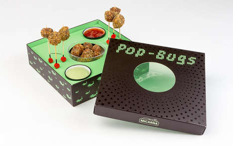 Bug-Based Meatball Snacks - Micarna's 'Pop-Bugs' is a Party-Ready Tray of Insect Snacks