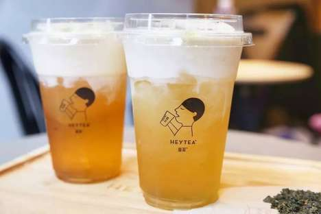 Cheese-Topped Iced Teas - People are Waiting in Five-Hour Lines to Try Hey Tea's 'Cheesy Iced Tea'