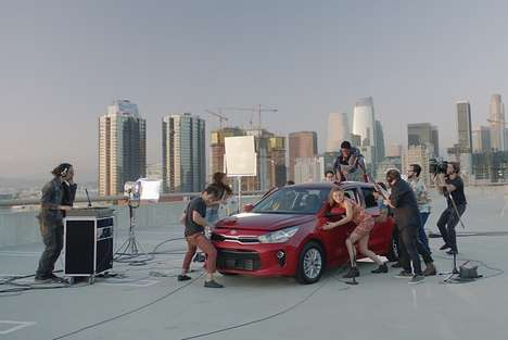 Musical Car Campaigns - The 2018 Kia Rio is Used as a Musical Instrument in This Ad