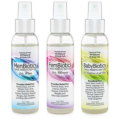 Microbe-Balancing Skincare Sprays - This Trio of All-Natural Topical Probiotic Sprays Soothe Skin