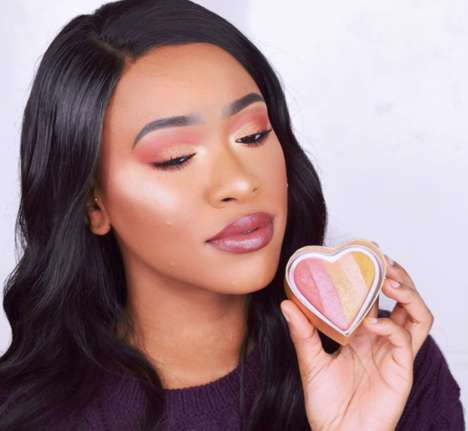 Dragon-Inspired Multicolored Highlighters - Makeup Revolution's 'Dragon's Heart' is Versatile