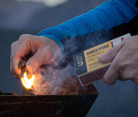 Compact Campsite Fire Starters - The UCO SweetFire Strikeable Firestarter Quickly Gets a Fire Going
