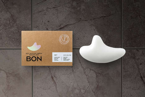Sculptural Massage Soaps - The Unique Shape of Vella Cosmetics' 'BON' Soap Reduces Swelling