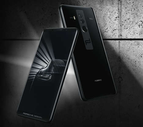 Designer Car Brand Smartphones - The Porsche Design Huawei Mate10 Smartphone is Elegantly Powerful