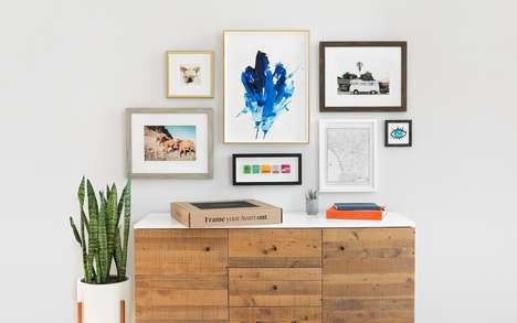 Custom Framing Collaborations - Target and Framebridge Created a Collection of Six Art Frames