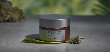 Tree-Infused Skin Creams - The Innisfree Forest For Men Premium Cream Alleviates Skin Stress