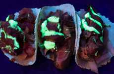 Glow-in-the-Dark Taco Menus - Doodle Bar's LOSTACOS Popup Celebrates Mexico's Day of the Dead