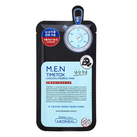 Male-Targeted Charcoal Sheet Masks - Mediheal's Male-Specific Face Mask Helps Heal One's Complexion