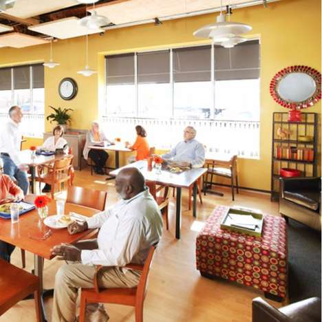 Senior-Centered Community Cafes - Mather's Cafes Host Speed Dating and Wine Tastings for Boomers