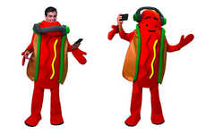 Social Media Character Costumes - The Snapchat Dancing Hot Dog Costume was Created by Snap Inc.