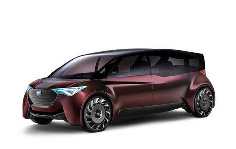 Hydrogen-Powered Passenger Vehicles - The Toyota Fine-Comfort Ride Has Four Swivel Seats Within
