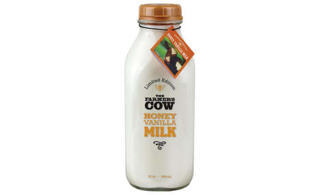 Comforting Sweetened Milk Drinks - The Farmer's Cow Honey Vanilla Milk is Limited-Edition