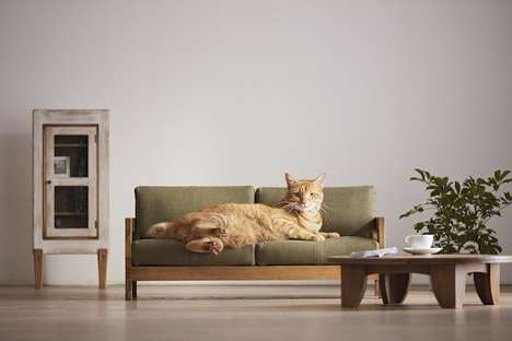 Cat Furniture Campaigns - This Okawa City Campaign Shows Off Quality Craftsmanship from the Region