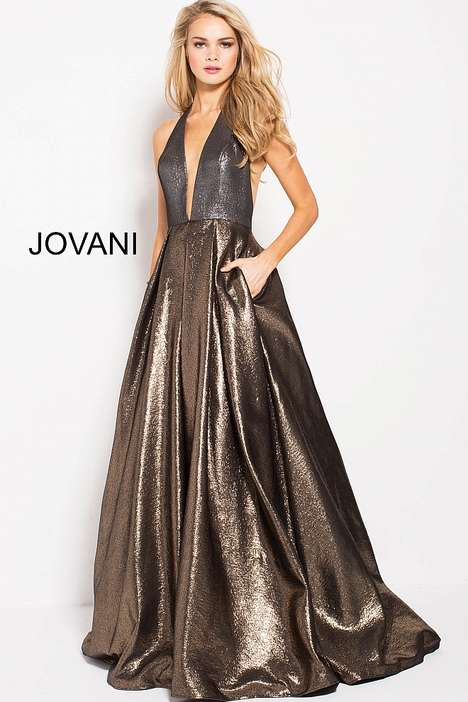 Liquid-Look Prom Dresses - Jovani's Prom Collection Introduces Dresses with Fluid Finishes