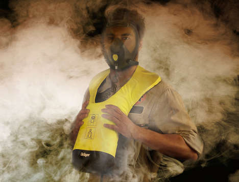 Quick-Access Fire Masks - The 'Airscape' Protective Mask Offers Support to Escape Danger