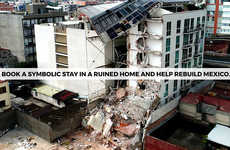 Symbolic Rental Charity Campaigns - Arriba Mexico Collects Funds for Mexico Earthquake Victims