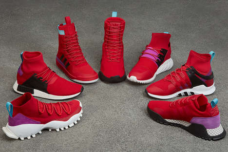 Season-Focused Red Sneaker Collections - adidas Originals Launched a Fresh Line for the Winter