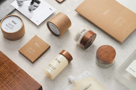 Elegant Men's Care Products - 'Wise' Offers Thoughtfully Packaged Natural Care Products for Men