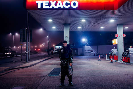 Moody Gas Station Editorials - 'The Gas Station' Marries Roadside Imagery With Bold Streetwear