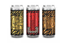 Illustrated Drama-Themed Beers