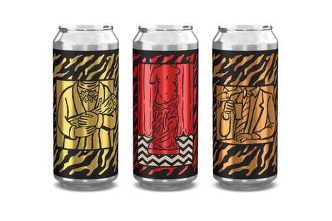 Illustrated Drama-Themed Beers - This Trio of Twin Peaks Beers Comes From David Lynch and Mikkeller