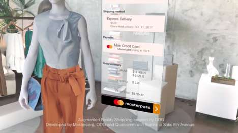 AR Shopping Experiences - Mastercard's AR Experience Lets Customers Scan Their Eyes to Pay