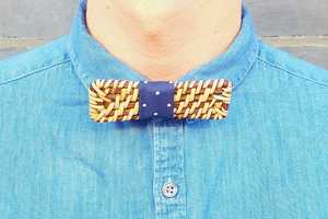 Colorful Rattan Bow Ties